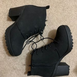 Ardene combat heel boots ankle